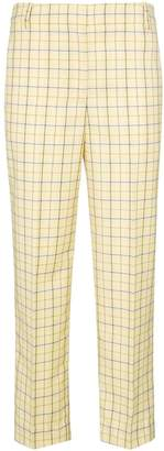Tibi Checked tapered trousers