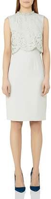 REISS Bobbi Lace Bodice Dress $395 thestylecure.com