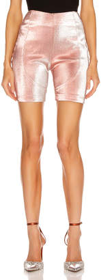 Area Lame Biker Short in Rose | FWRD