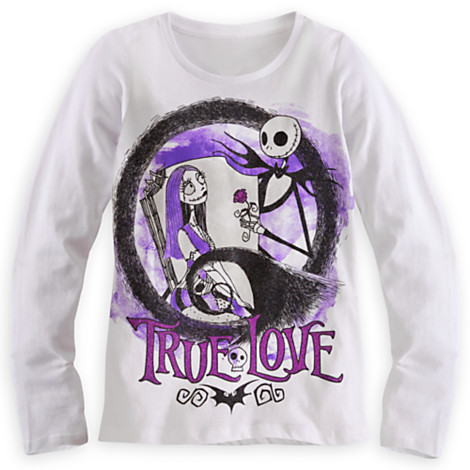 Disney Nightmare Before Christmas Long Sleeve Tee for Girls