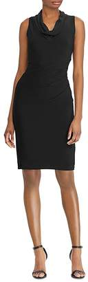Lauren Ralph Lauren Sleeveless Cowl-Neck Dress