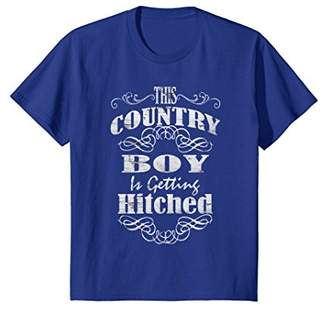 Western typography funny country boy getting hitched T shirt