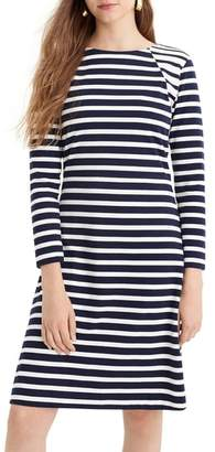J.Crew 365 Stripe Knit Fit & Flare Dress