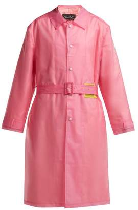 Martine Rose Utopia Patch Frosted Raincoat - Womens - Pink