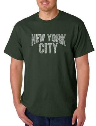 Pop Culture Los Angeles Pop Art Men's T-Shirt - NYC Neighborhoods