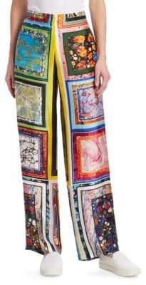 Rosie Assoulin Marble Pajama Pants