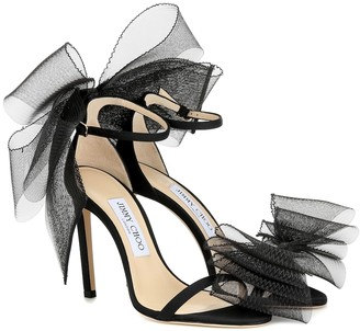 Jimmy Choo Aveline 100 embellished sandals