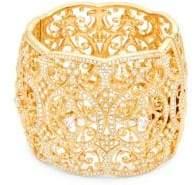 Adriana Orsini Crystal Wide Bangle Bracelet