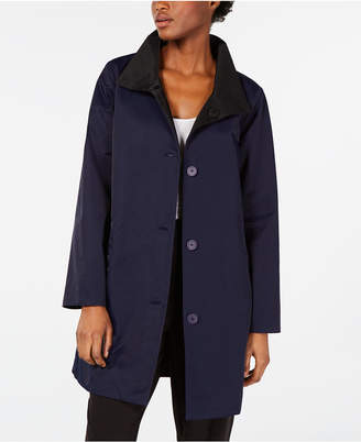 Eileen Fisher Organic Stand-Collar Reversible Coat, Regular & Petite