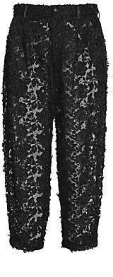 Dolce & Gabbana Dolce& Gabbana Dolce& Gabbana Women's Lace Embroidery Crop Pants