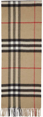 Burberry Beige Cashmere Giant Icon Scarf