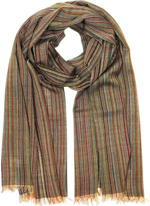 Paul Smith Signature Stripe Mercerized Wool Men's Scarf