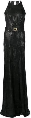 Just Cavalli snakeskin effect long dress
