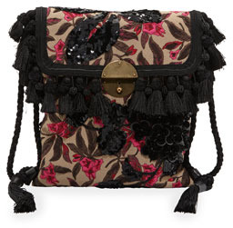 Marc Jacobs Floral Embroidered Surfer Bag