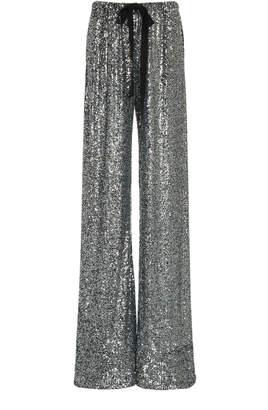 Naeem Khan High-Waisted Sequin-Ebellished Wide-Leg Pants