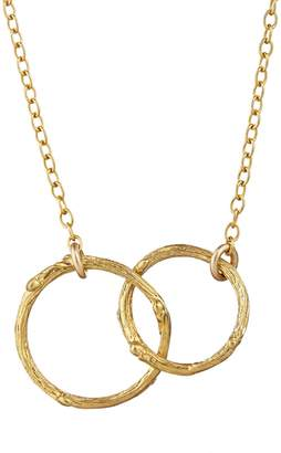 Chupi - Just The Two Of Us Hawthorn Twig Circle Necklace in Gold