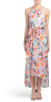 Printed Hi-lo Maxi Dress