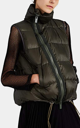 Sacai Women's Down Oversized Puffer Vest - Md. Green