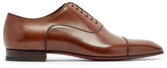 Christian Louboutin Greggo Leather Oxford Shoes - Mens - Brown