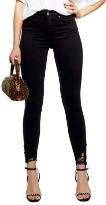 Topshop Ripped Jamie Jeans 34-Inch Leg