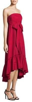 Moss Strapless Self-Tie Cotton Dress