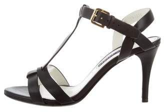Ralph Lauren Leather T-Strap Sandals