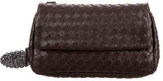 Bottega VenetaBottega Veneta Intrecciato Leather Flap Crossbody Bag