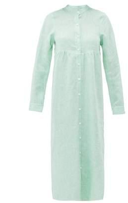Gioia Bini Emma Linen Shirtdress - Womens - Light Green