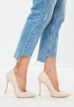 Missguided Faux Leather Pointed Court Heels
