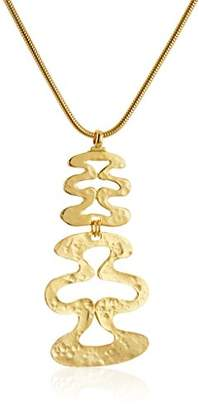 Ben-Amun Jewelry Sculpture Garden Wave Pendant Necklace