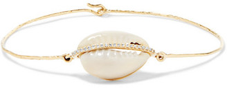 Cauri 9-karat Rose Gold, Diamond And Porcelain Bracelet
