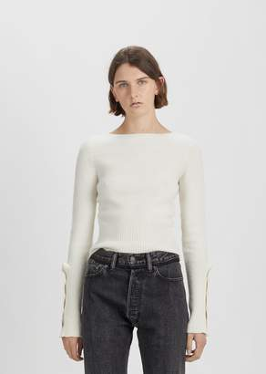 Lemaire Shetland Fitted Sweater Chalk