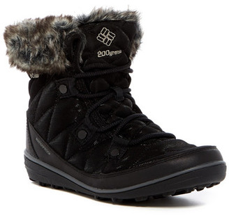 Columbia Heavenly Shorty Omni-Heat After Dark Faux Fur Lined Waterproof Boot $130 thestylecure.com