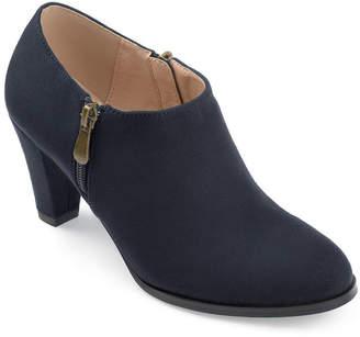 Journee Collection Womens Sanzi Bootie Stacked Heel Zip