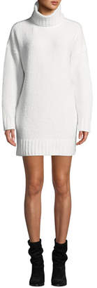 ATM Anthony Thomas Melillo Chenille Turtleneck Short Sweater Dress