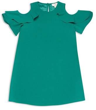 Kate Spade Girls' Cold-Shoulder Ruffle Sleeve Dress - Big Kid