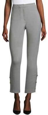 Wool Canvas Skinny Pants