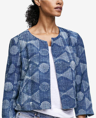 Eileen Fisher Organic Cotton Printed Jacket, Regular & Petite