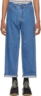 Craig Green Blue Bleached Denim Jeans
