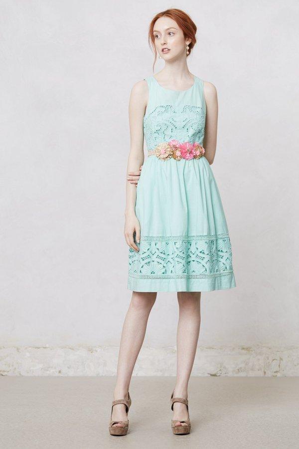 Anthropologie Bottlegreen Dress