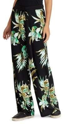Lauren Ralph Lauren Petite Jersey Wide-Leg Pants