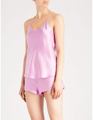 Olivia Von Halle Bella Candy silk-satin pyjama set