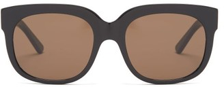 Gucci Square Frame Sunglasses - Mens - Black