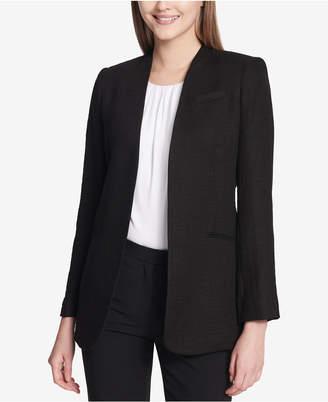 Calvin Klein Tweed Flyaway Blazer, Regular & Petite