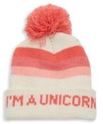 Tiny Whales Toddler's, Little Girl's,& Girl's I'm a Unicorn Pom-Pom Beanie