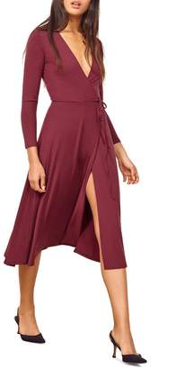 Reformation Maurie Wrap Dress