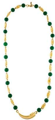 Judith Leiber Beaded Station Necklace