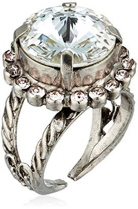 Sorrelli Womens Snow Bunny Round Cut Cocktail Ring