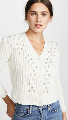 Michaela Buerger Hand Knit Crystal Cashmere Cardigan