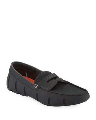 Swims Mesh & Rubber Penny Loafer, Black